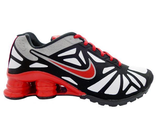7071358dd9c Tênis Nike Shox Turbo 14 Preto Branco e Vermelho - Loja Tudo Tudo